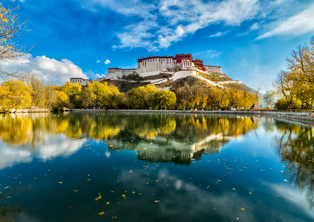 The Potala Palace in Lhasa, Tibet